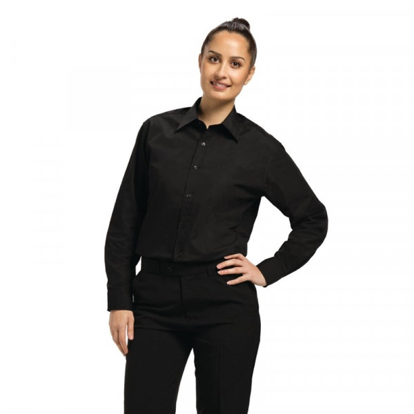 Uniform Works Unisex Oberhemd schwarz XL