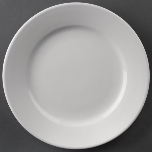 Athena Hotelware runde Teller mit breitem Rand 20,2cm