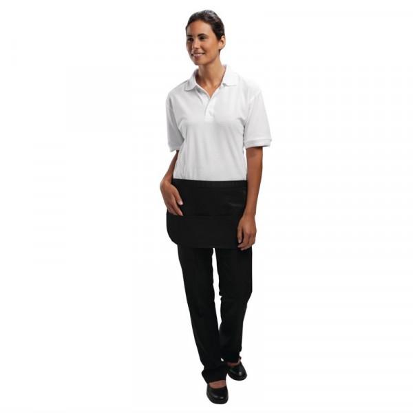 Whites Unisex Kellnerschürze mit Tasche schwarz