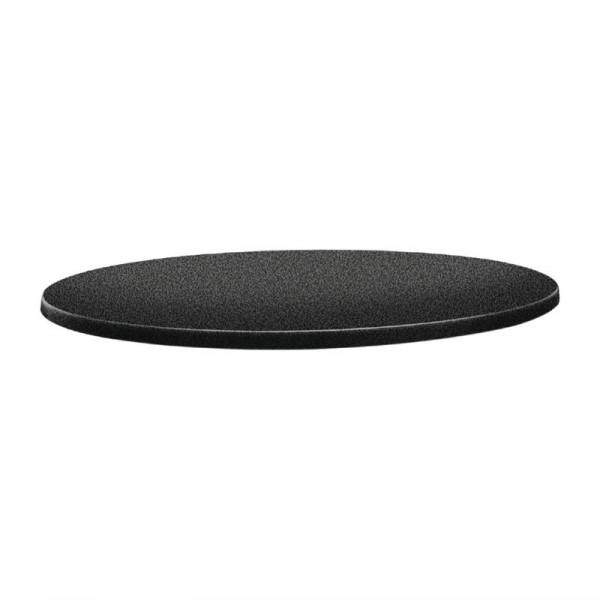 Topalit Classic Line runde Tischplatte anthrazit 80cm