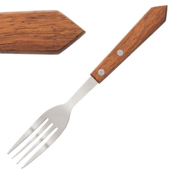 Olympia Steak Forks Wooden Handle