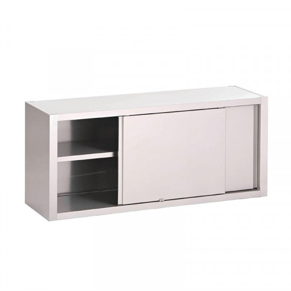 Gastro-M S/S wall cupboard with sliding doors 1200x400x850mm
