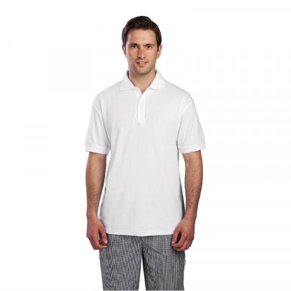Unisex Poloshirt weiß S