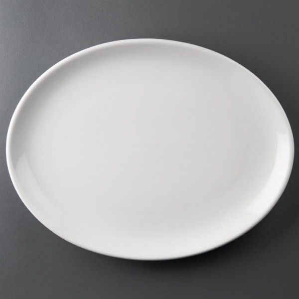 Athena Hotelware Oval Coupe Plates 305 x 241 mm