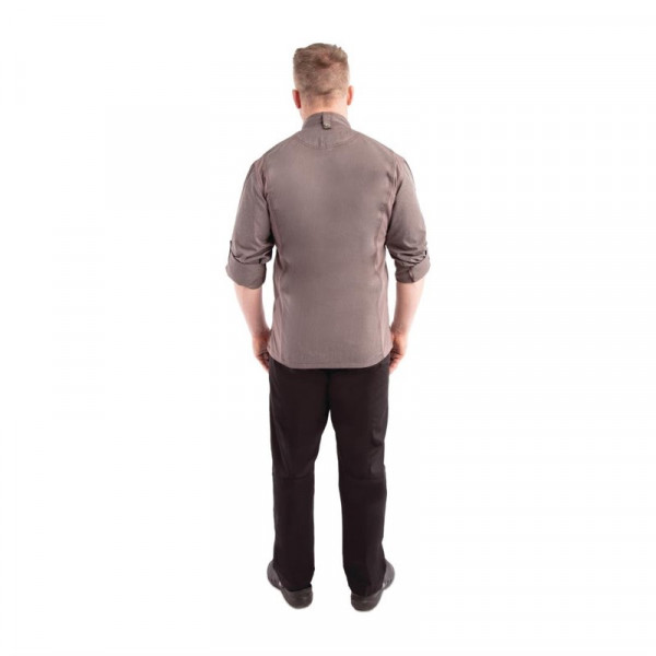 Chef Works Hartford Lightweight L/S Zipper Coat Graphite Size S