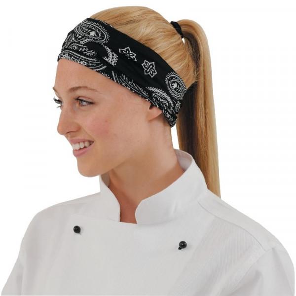 Buff Kochbandana schwarz weiß