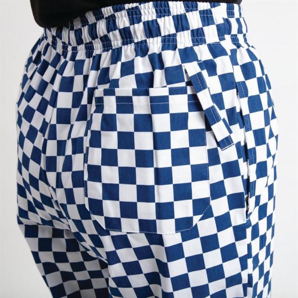 Whites Unisex Kochhose Easyfit blau/weiß großkariert L