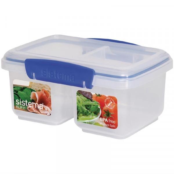 Sistema Klip It geteilte Frischhaltedose 1 Liter