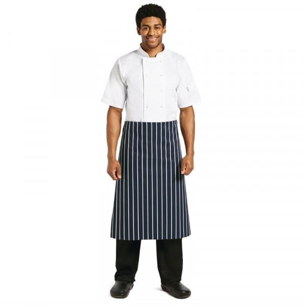 Whites Küchenschürze blau weiß gestreift
