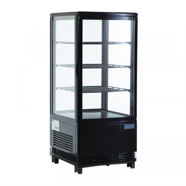 Polar Kühlvitrine schwarz 68 Liter