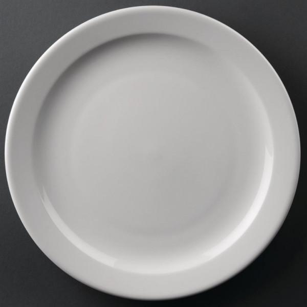 Athena Hotelware runde Teller mit schmalem Rand 25,4cm