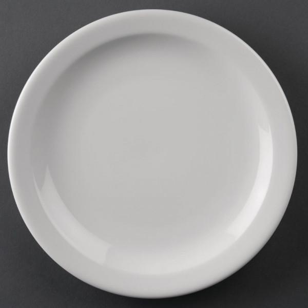 Athena Hotelware runde Teller mit schmalem Rand 20,5cm