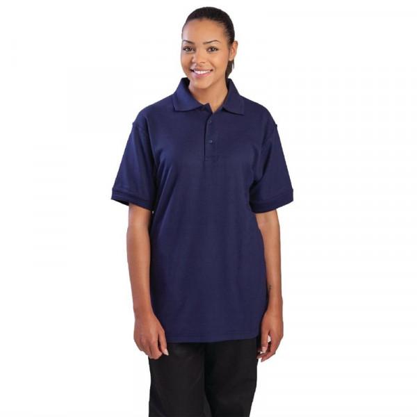 Unisex Poloshirt marineblau L