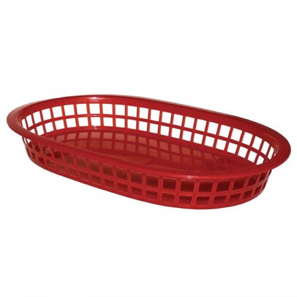 Olympia ovale Servierkörbe Kunststoff rot