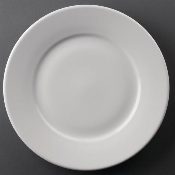 Athena Hotelware runde Teller mit breitem Rand 25,4cm