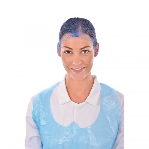 Haarnetz hellblau